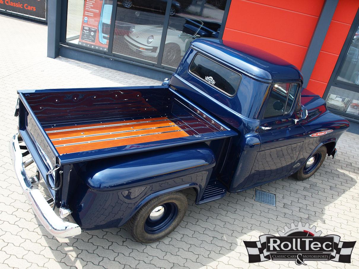 1957 Chevrolet 3100 Stepside Pickup Truck Komplettrestaurierung Chevy Rolltec Classic Cars Motorsport
